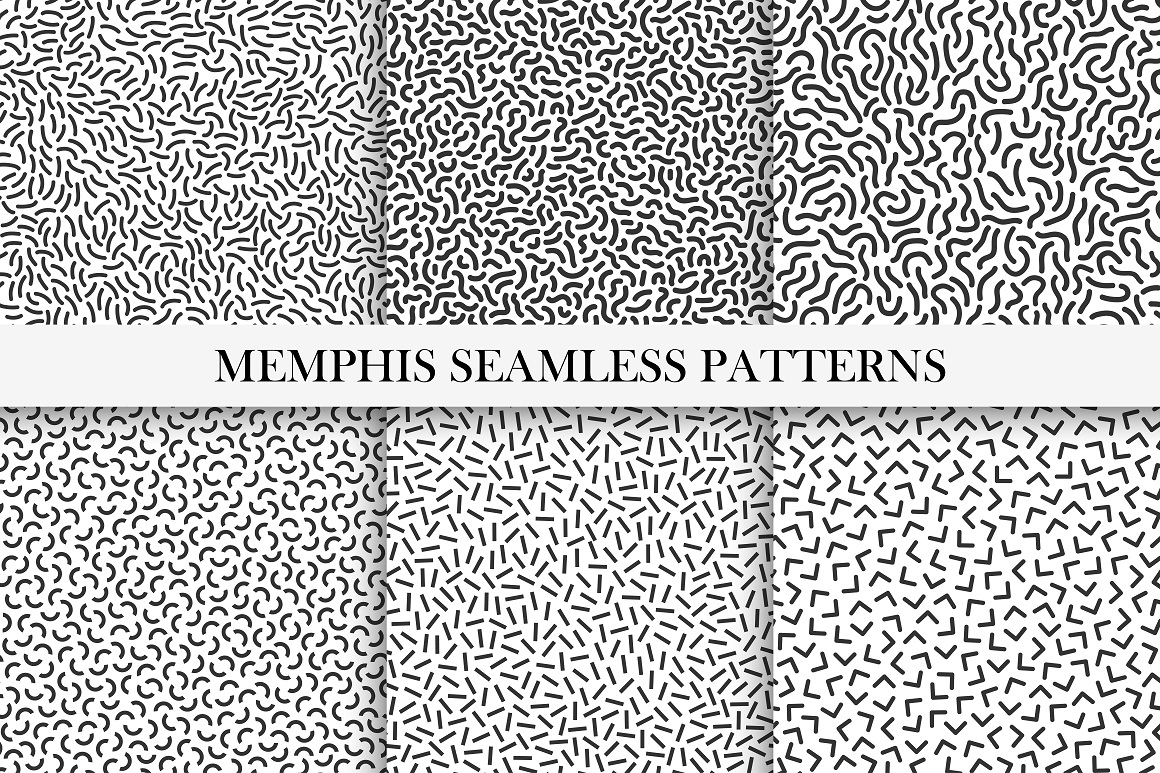 Memphis patterns. B&W textures. example image 2