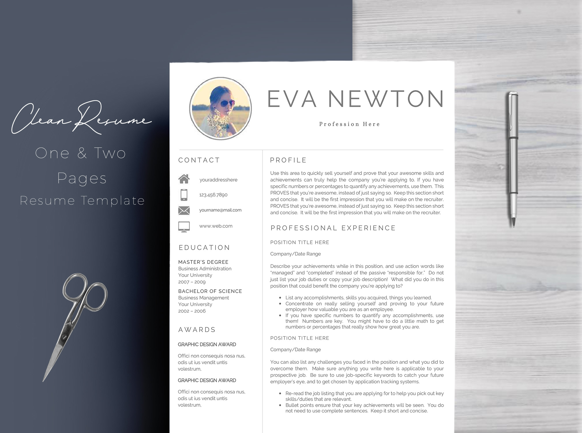 Resume Template 4 Pages example image 1