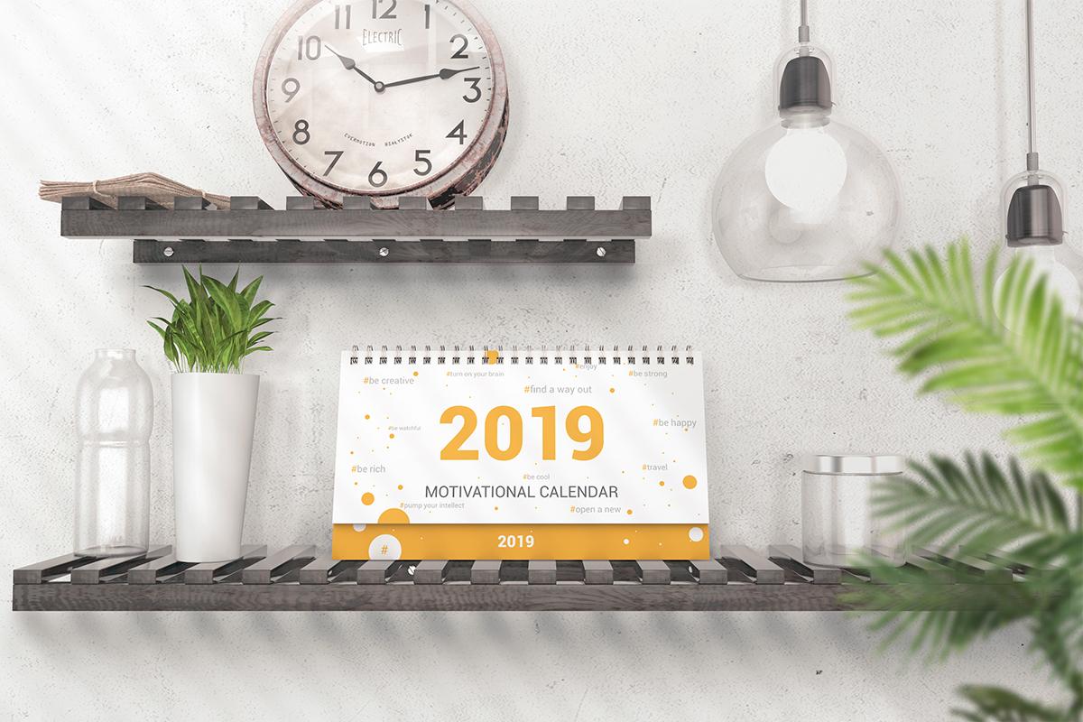 Various Desktop Calendars Mockup example image 3