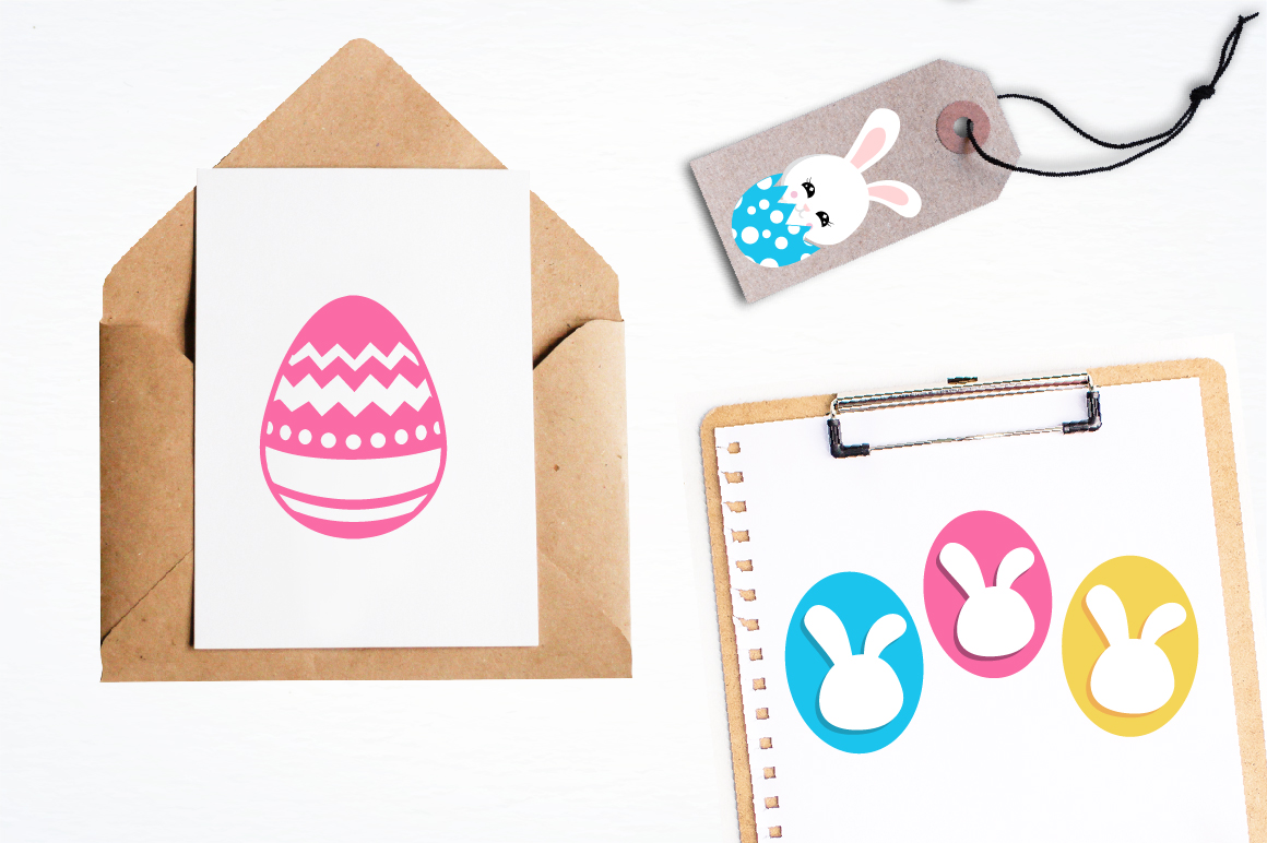 Easter cute bunnies graphics and illustrations example image 4