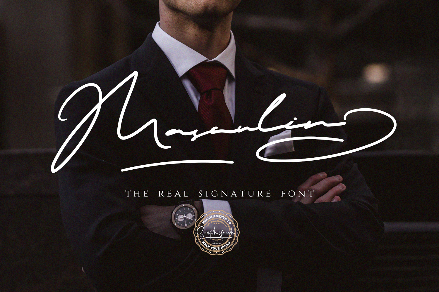 MASCULIN - The Real Signature Font example image 1