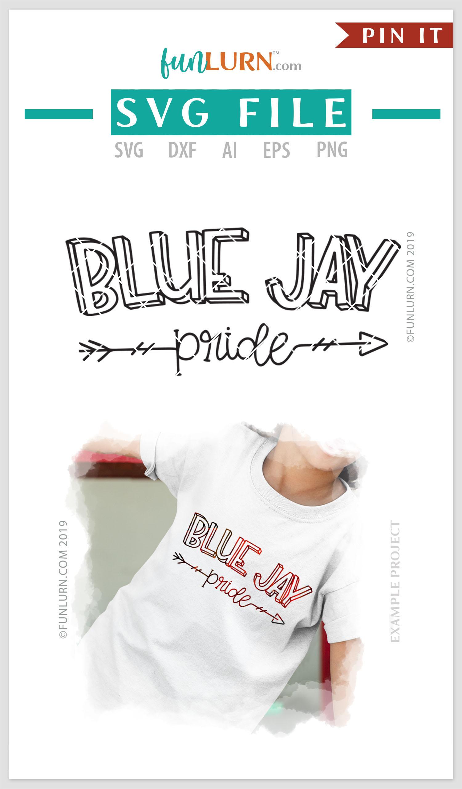 Blue Jay Pride Team SVG Cut File example image 4