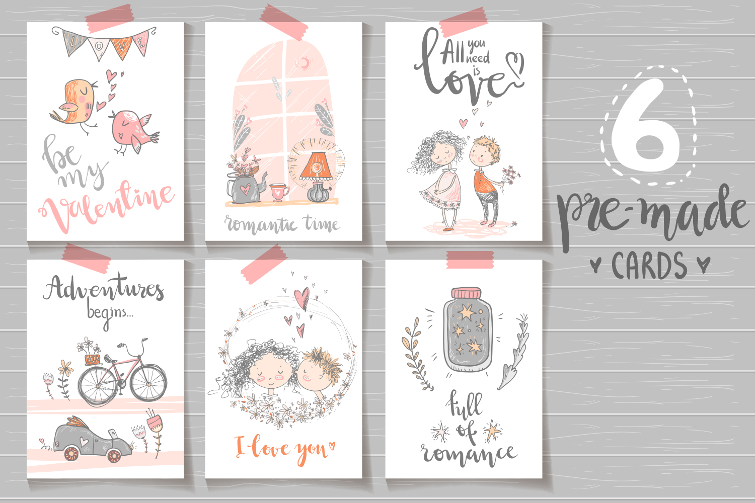 Fall in love, ROMANTIC graphic KIT example image 7