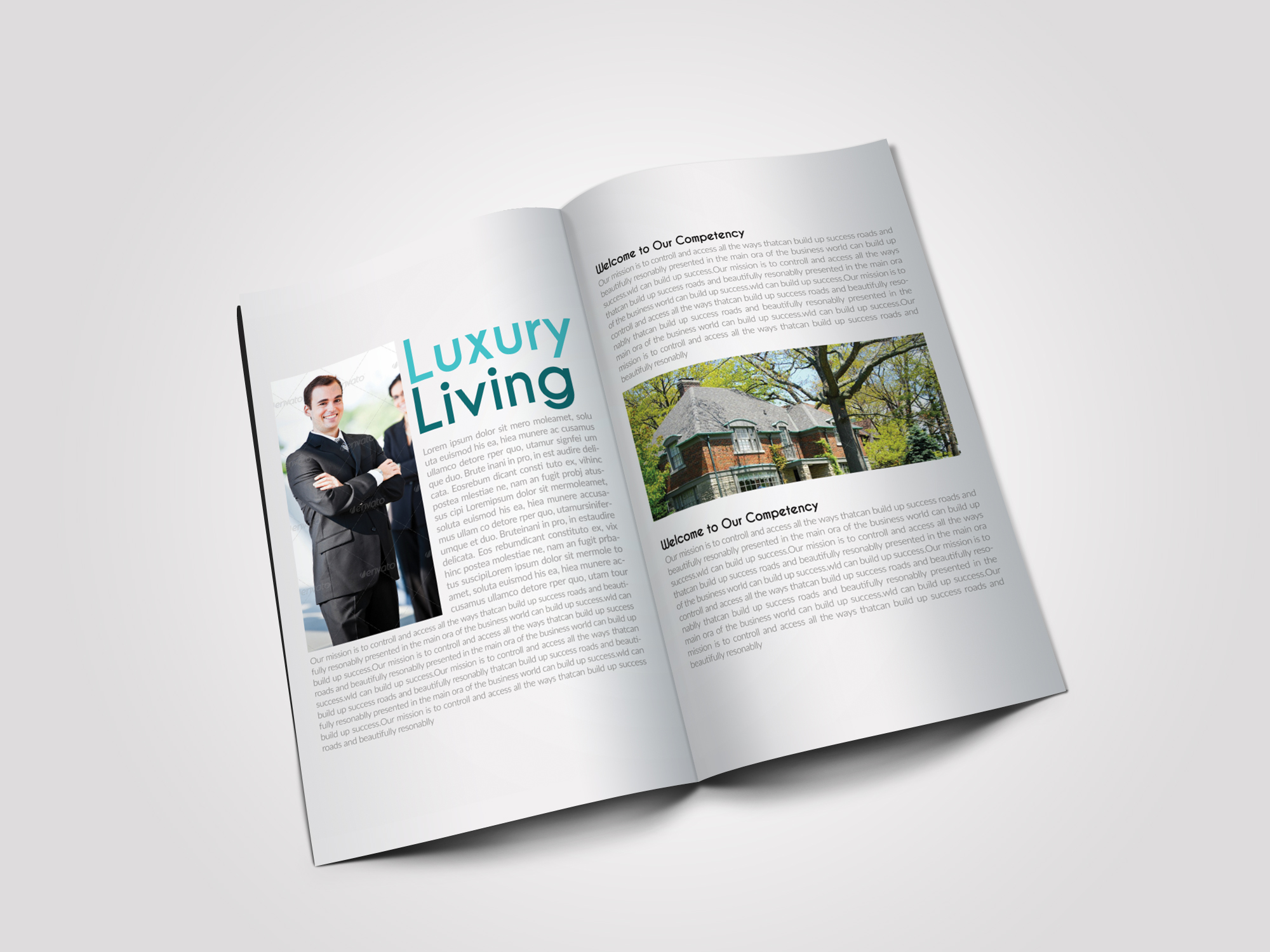 12 Pages Professional Business Bifold Brochure example image 3