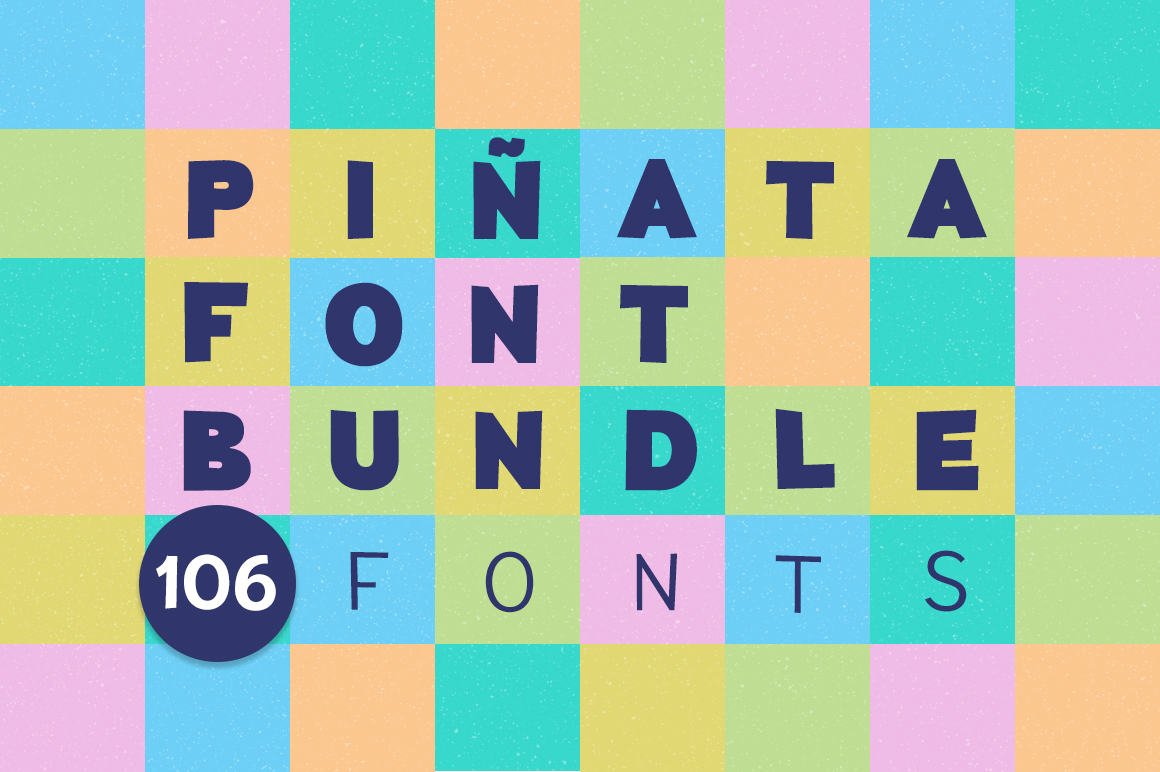 Piñata Font Bundle | 106 fonts example image 1
