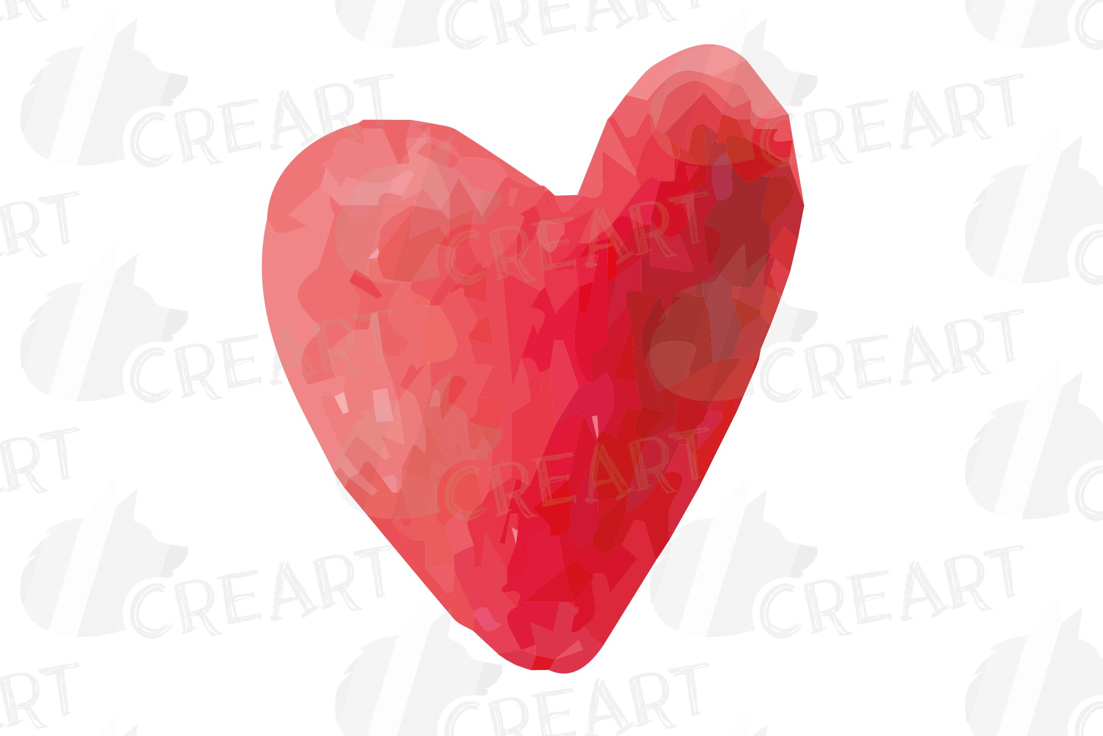 Watercolor little hearts clip art, colorful Valentine example image 6
