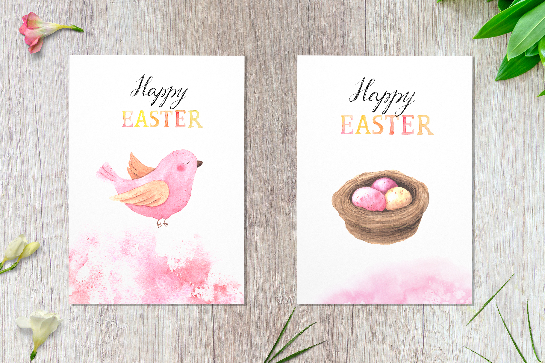 Watercolor Happy Easter Collection example image 8