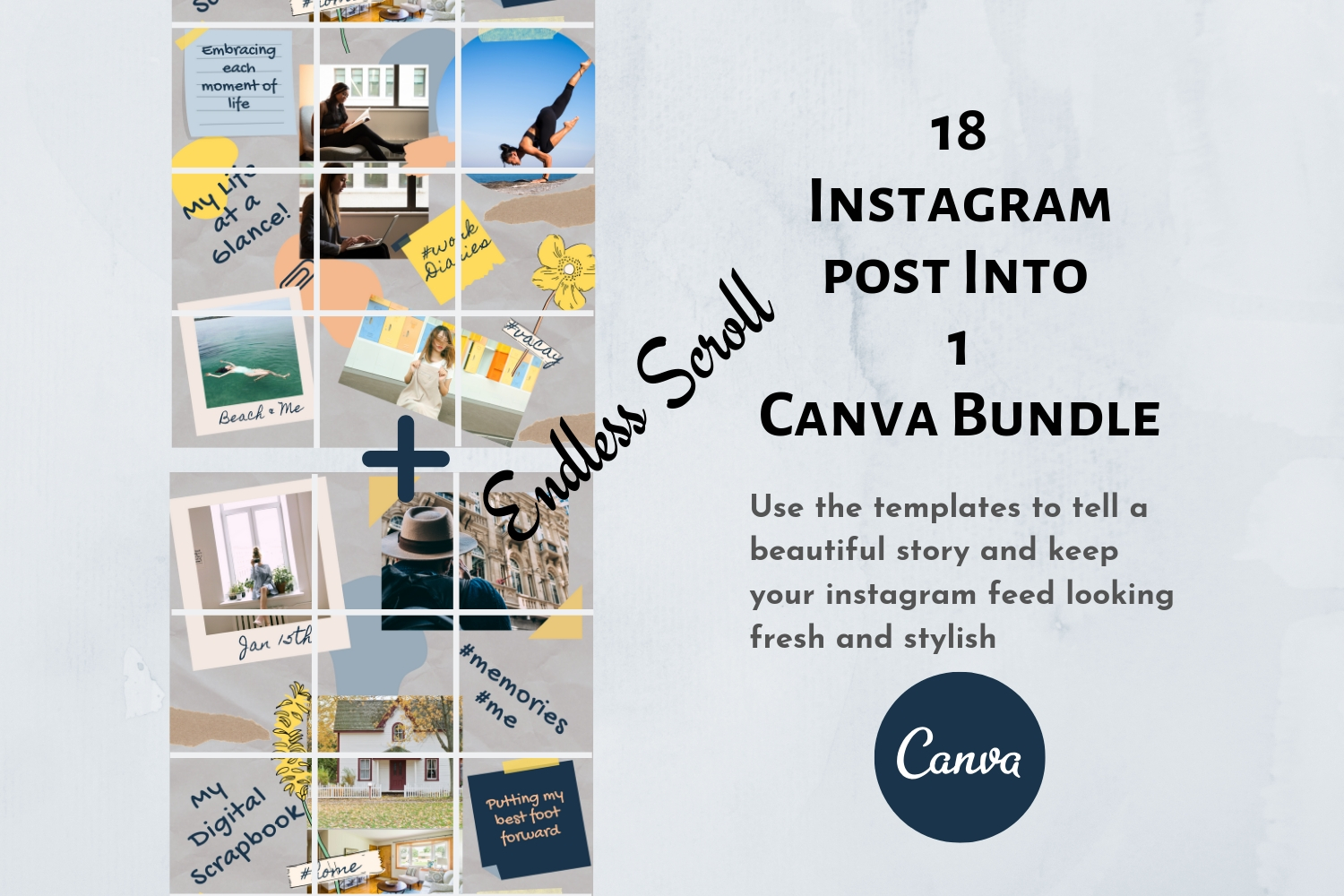Instagram Puzzle Template Canva- My Scrapbook example image 4