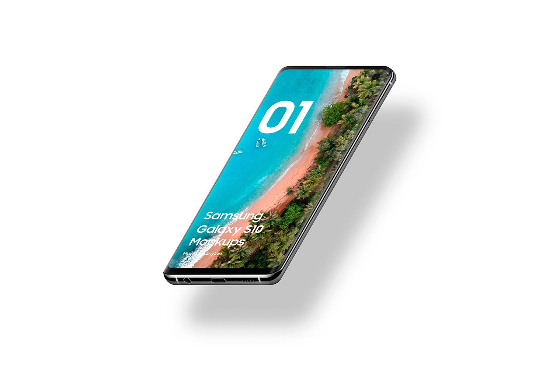 Samsung Galaxy S10 - 21 Mockups - 5K - PSD example image 17