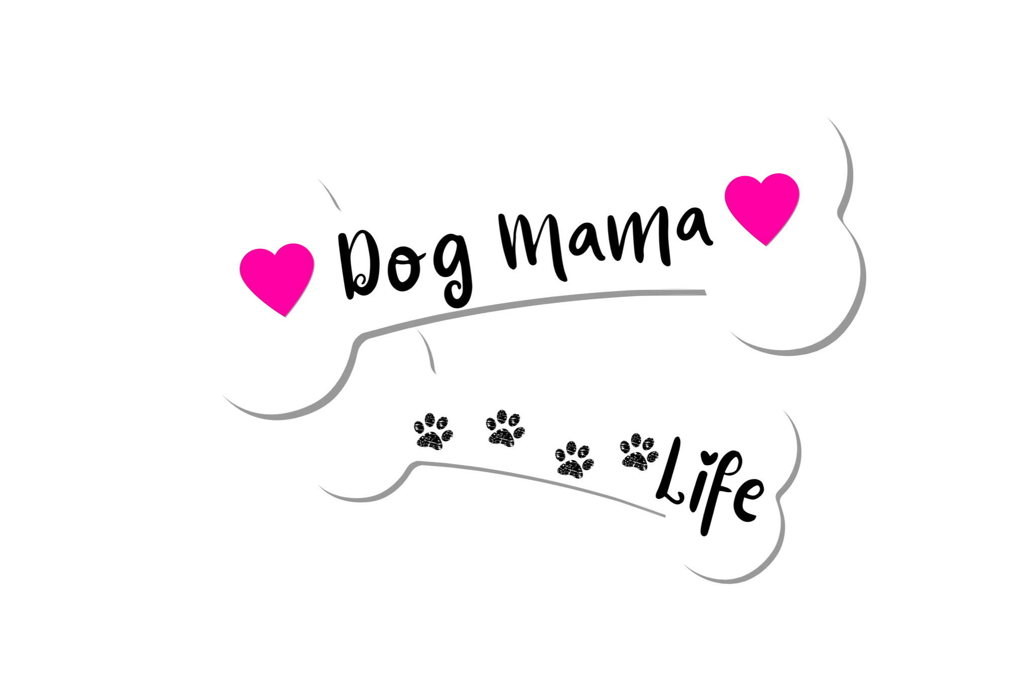 Dog Mama Life Dog Bones PNG Transparent File example image 1