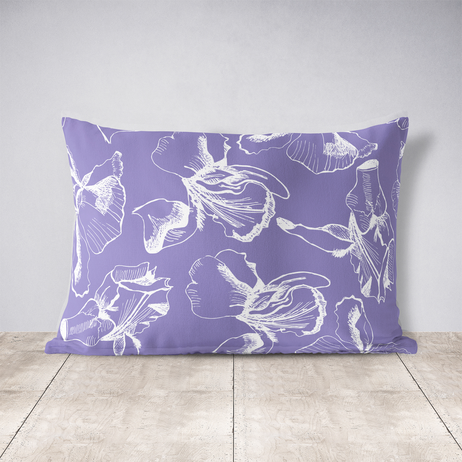 Collection with sketches of iris flowers and seamless patterns.  example image 8