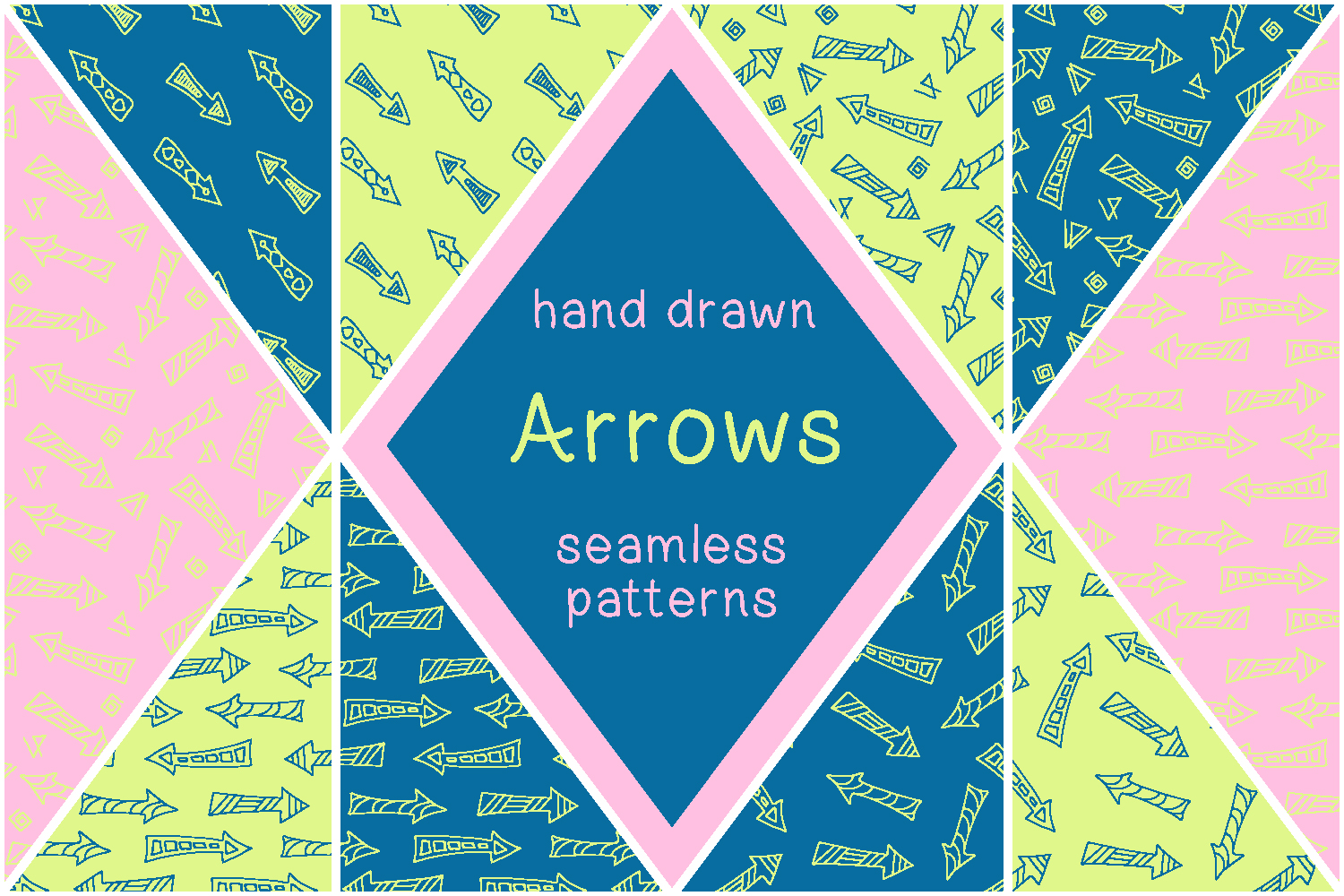 Hand drawn arrows - vector patterns example image 1