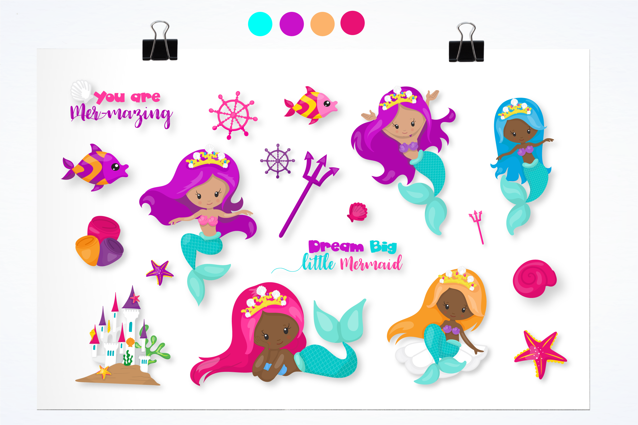 little mermaid graphics and illustrations example image 3