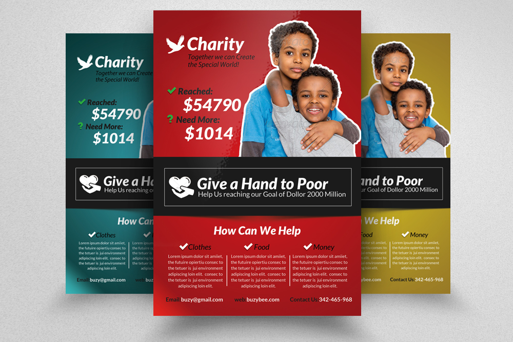 6 Charity & Donation Flyers Bundle example image 6