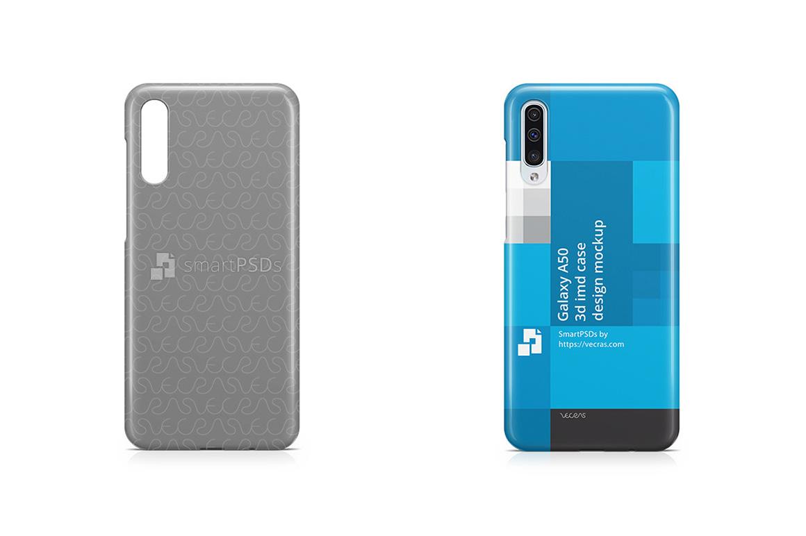 Samsung Galaxy A50 3d IMD Case Design Mockup 2019 example image 1