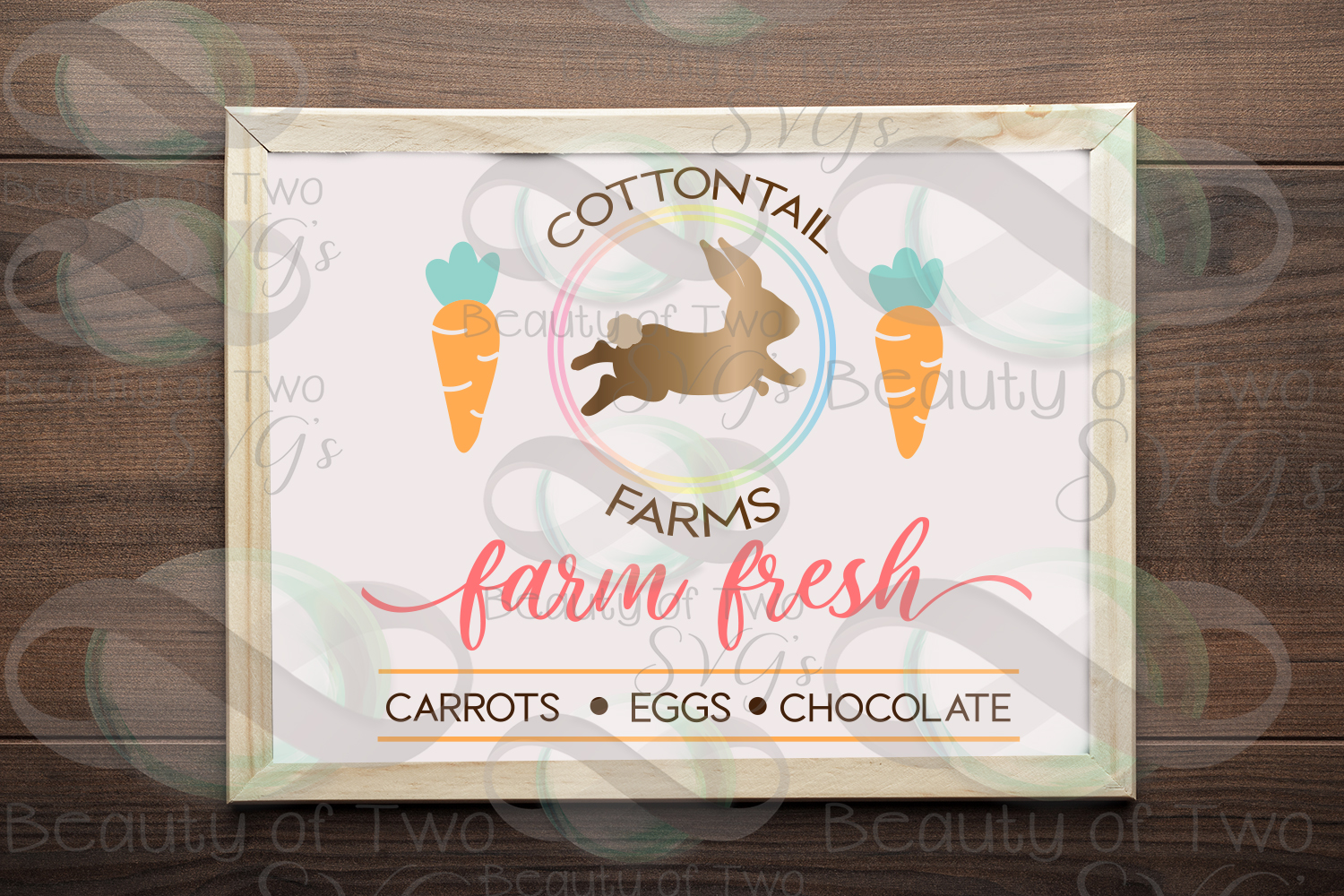 Cottontail Farms svg & png, Farmhouse Easter svg example image 1