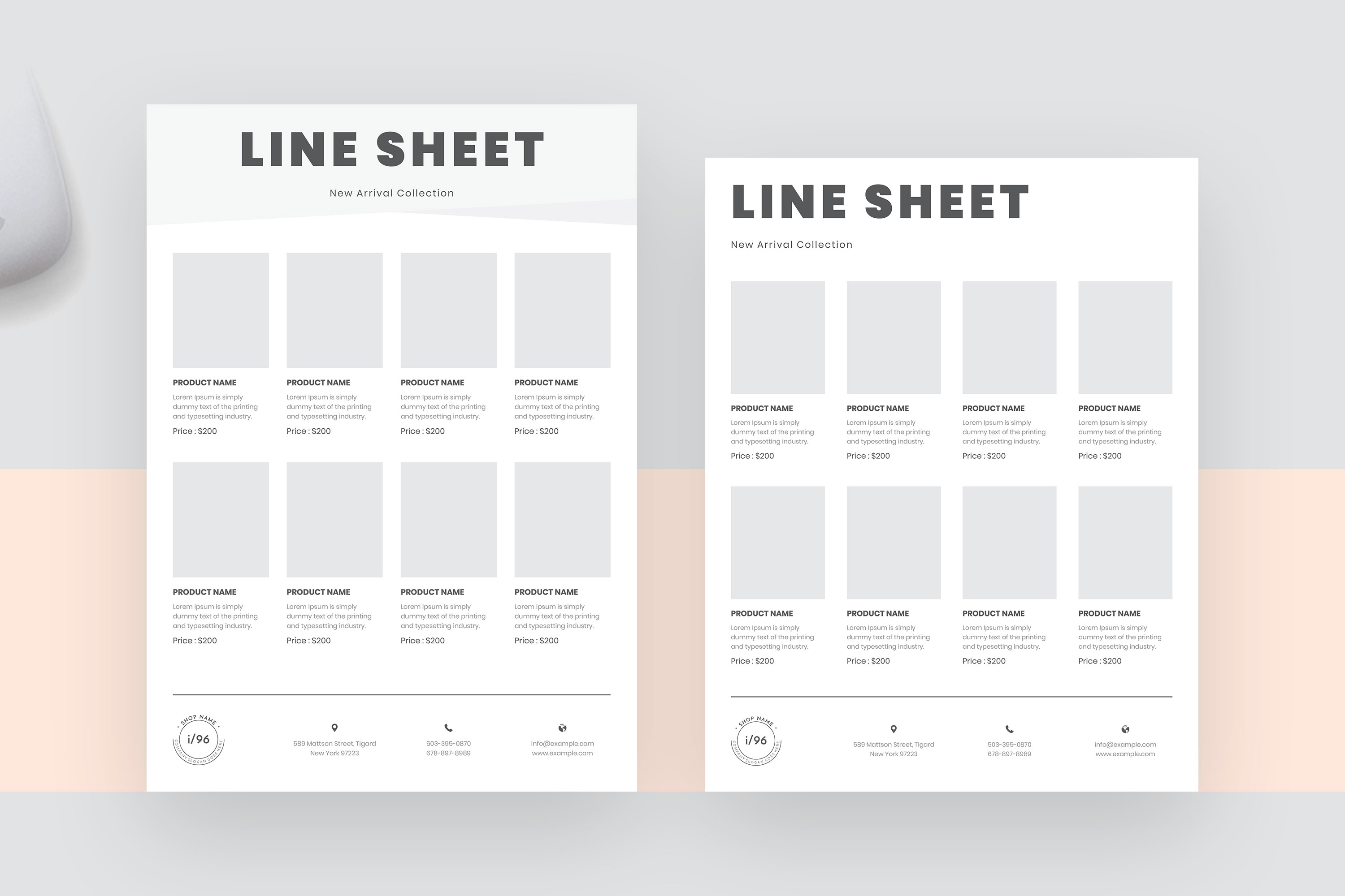 Product Sale Line Sheet Flyer Template example image 2