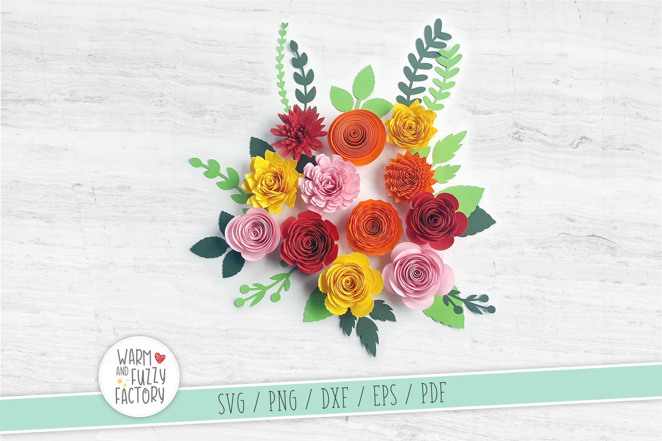 Paper flower template, Rolled flower svg, Paper flower svg example image 3