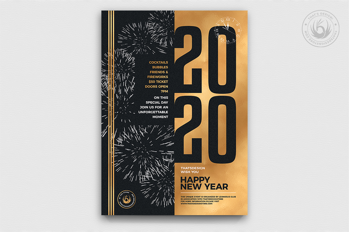 New Year Flyer Template V9 example image 1