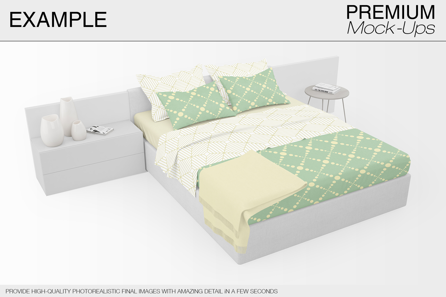 Bedding Mockup Set example image 5