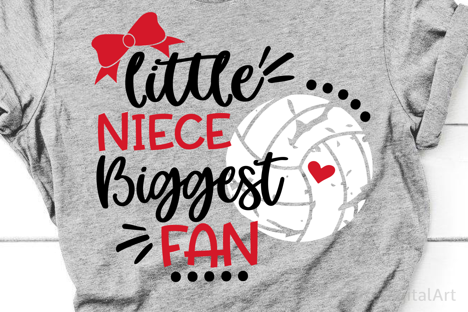 Little Niece Biggest Fan Svg, Volleyball Niece Svg, Volleyba example image 1