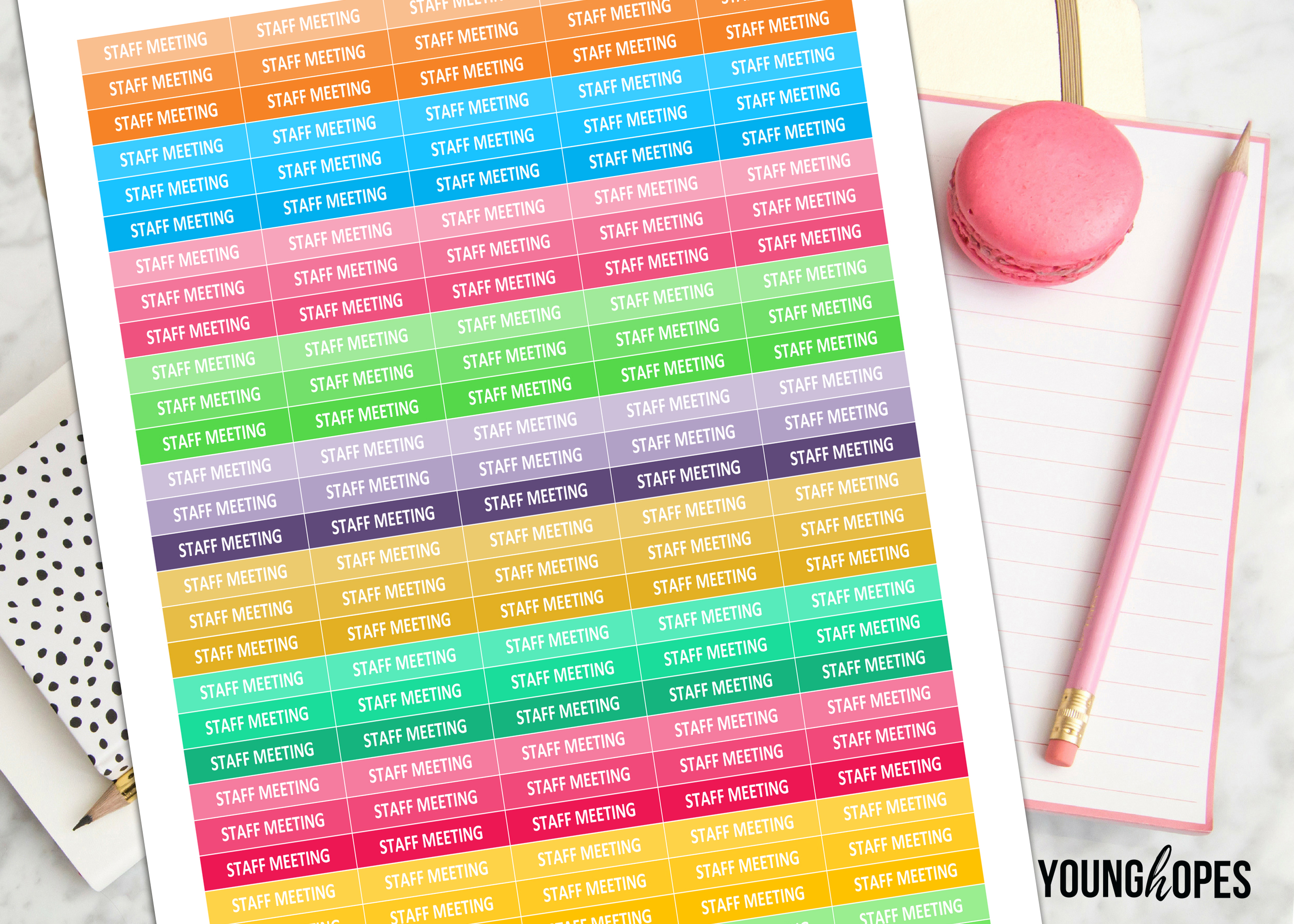 Staff Meeting Planner Stickers-Teacher Planner Stickers example image 2