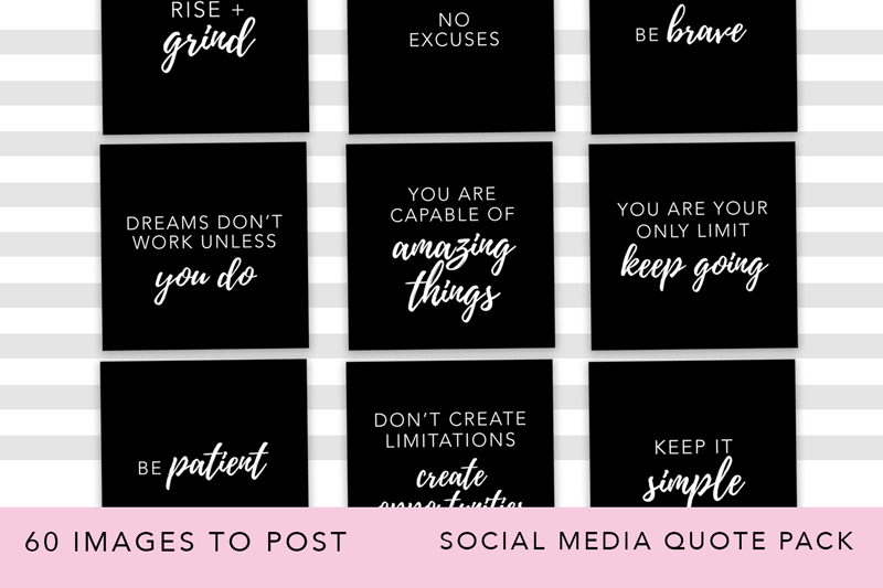 Girl Boss Instagram Quote Pack example image 4