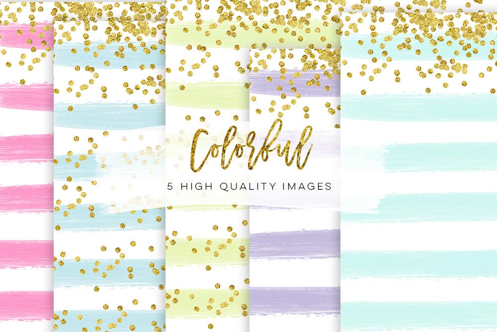 planner cover planner paper, diamond confetti paper, gold confetti candy paper, mini paper kit Rainbow Glitter Pretty Glitter planner example image 1