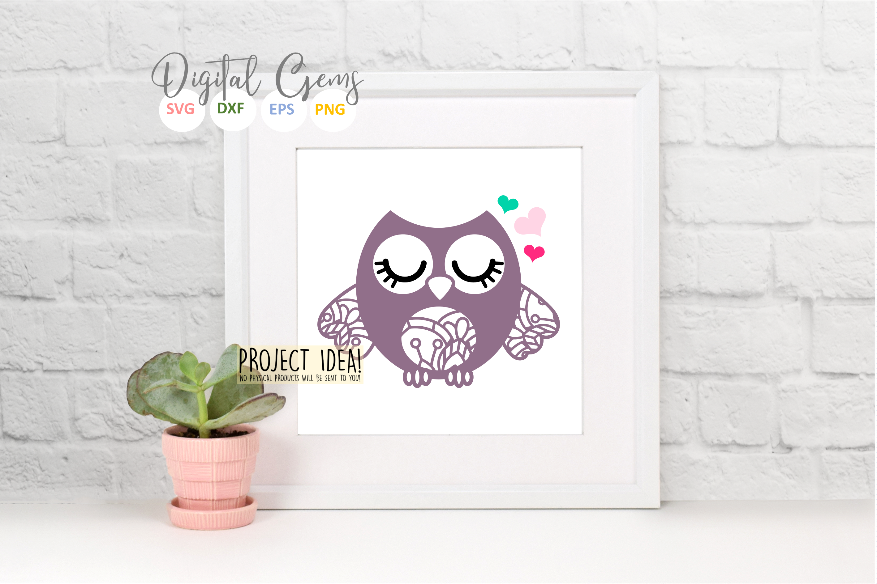 Owl SVG / EPS / DXF / PNG files example image 6