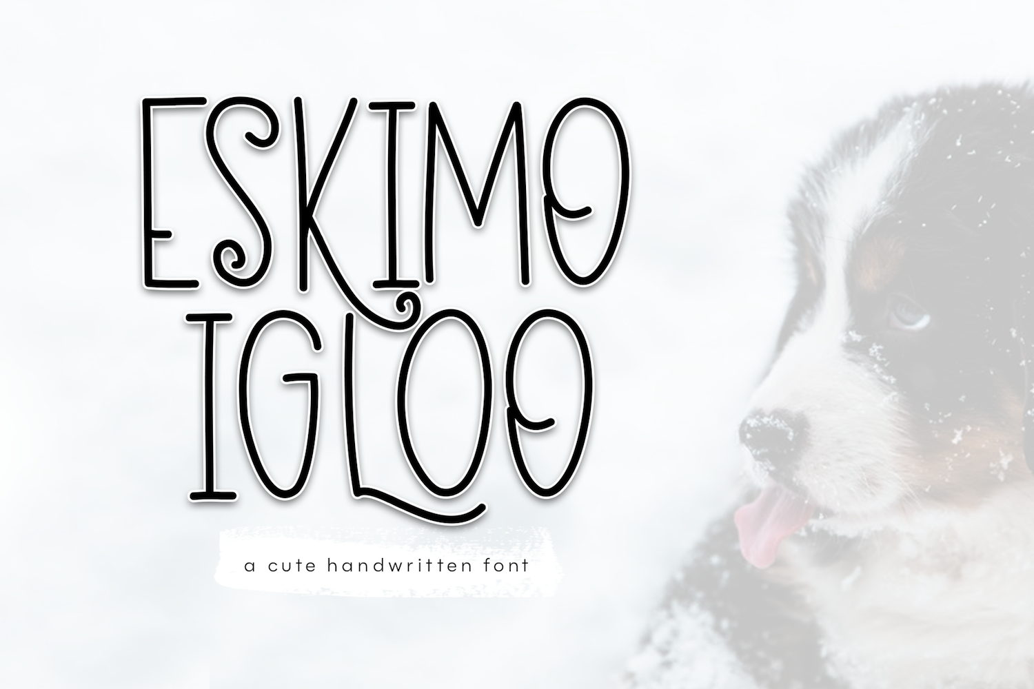 Eskimo Igloo - A Fun & Quirky Font example image 1