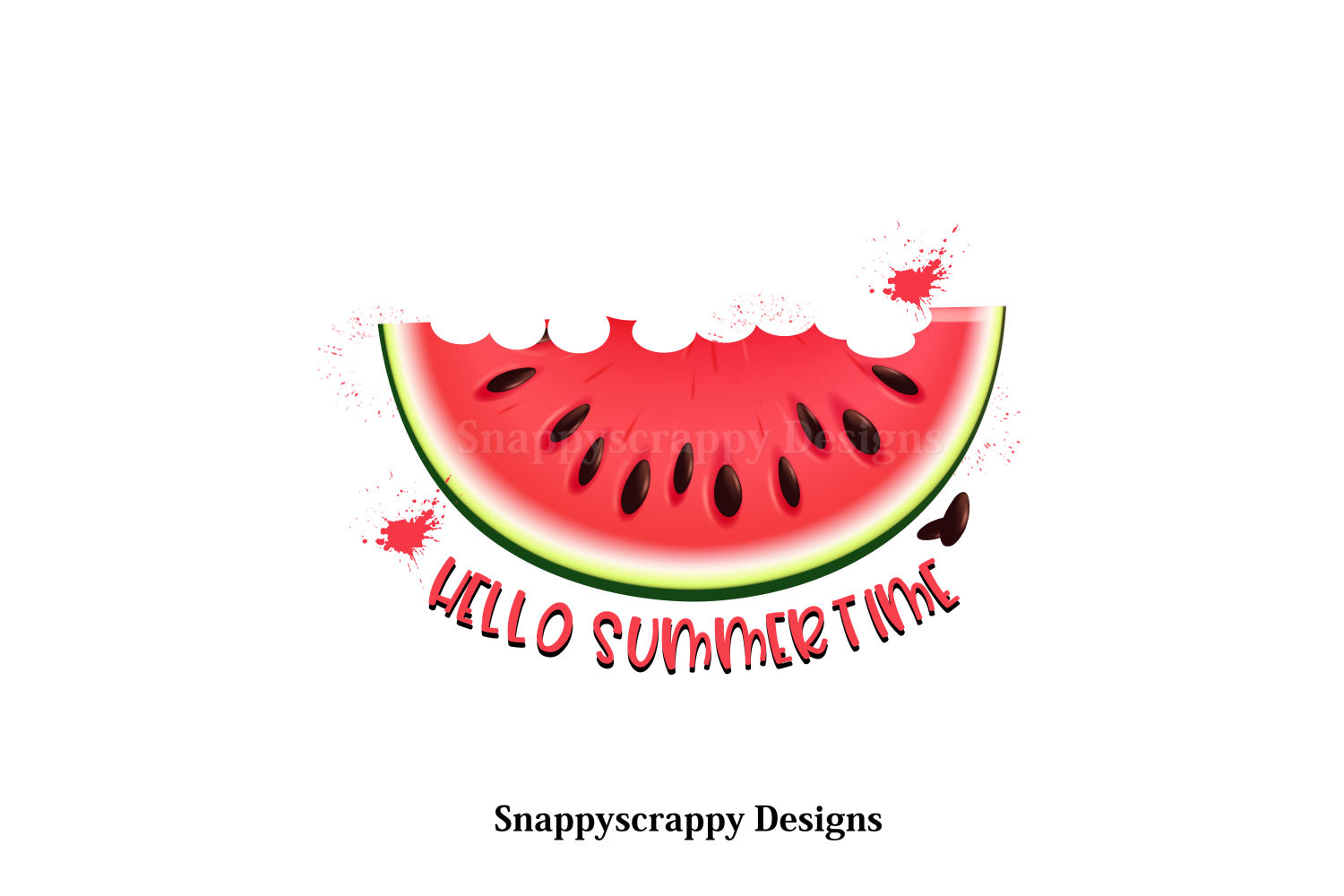 Hello Summertime Melon Sublimation example image 1