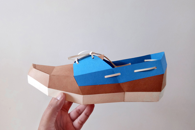 DIY Boat Shoe - 3d papercrafts example image 2
