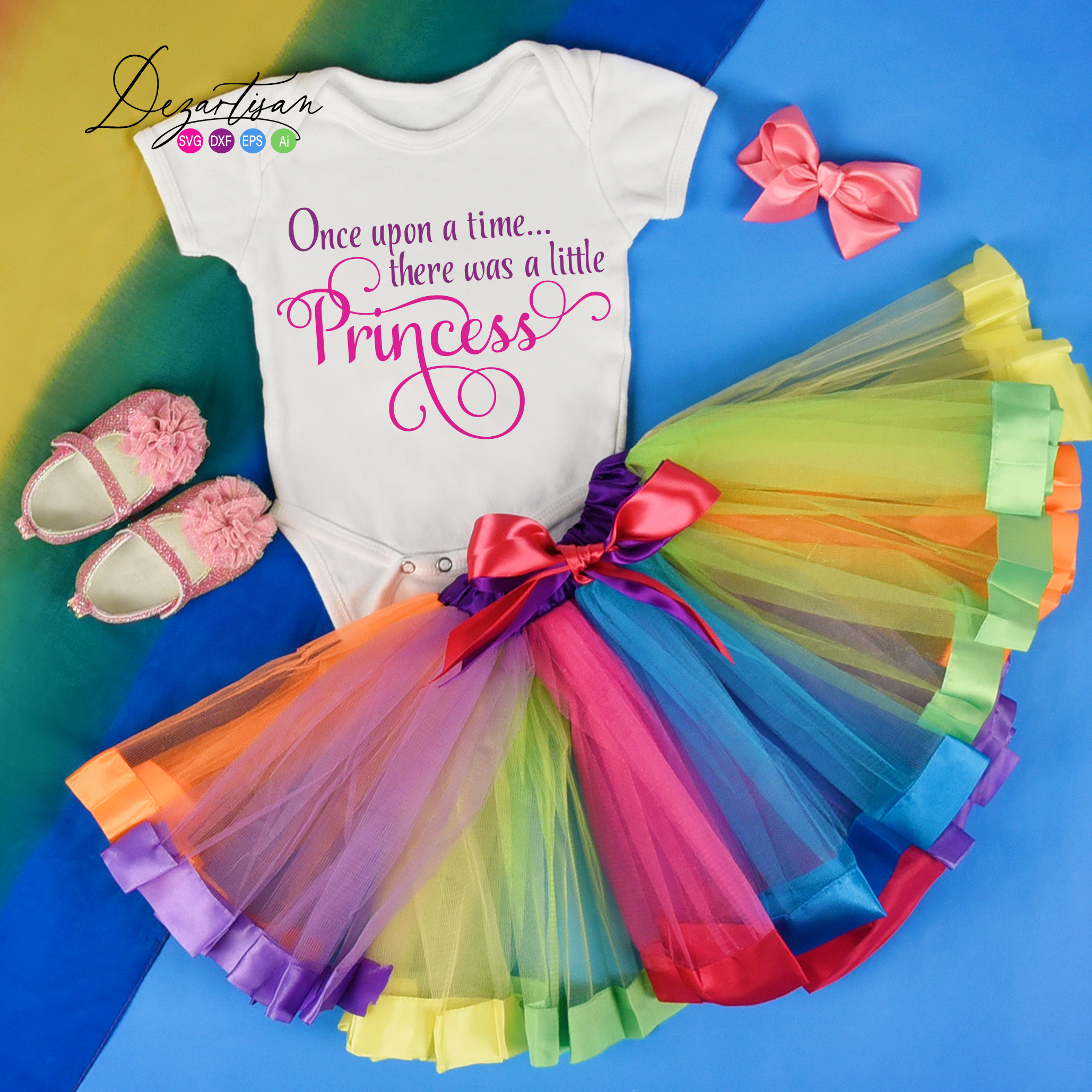 Once Upon a time There was a little princess svg example image 2