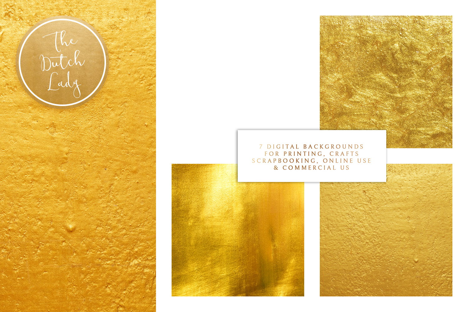 Gold Foil Texture Scrapbook Papers example image 3