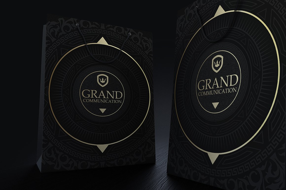 Gold And Black Corporate Identity example image 3