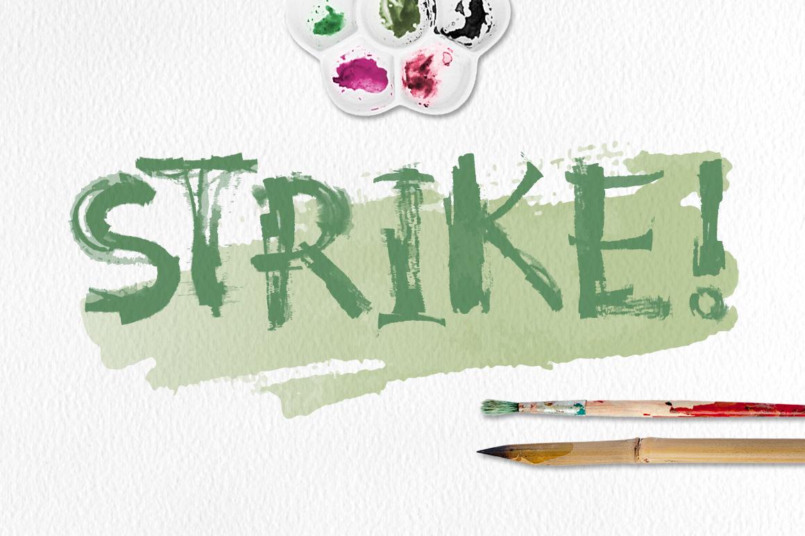 Strike Brushes for Illustrator example image 3