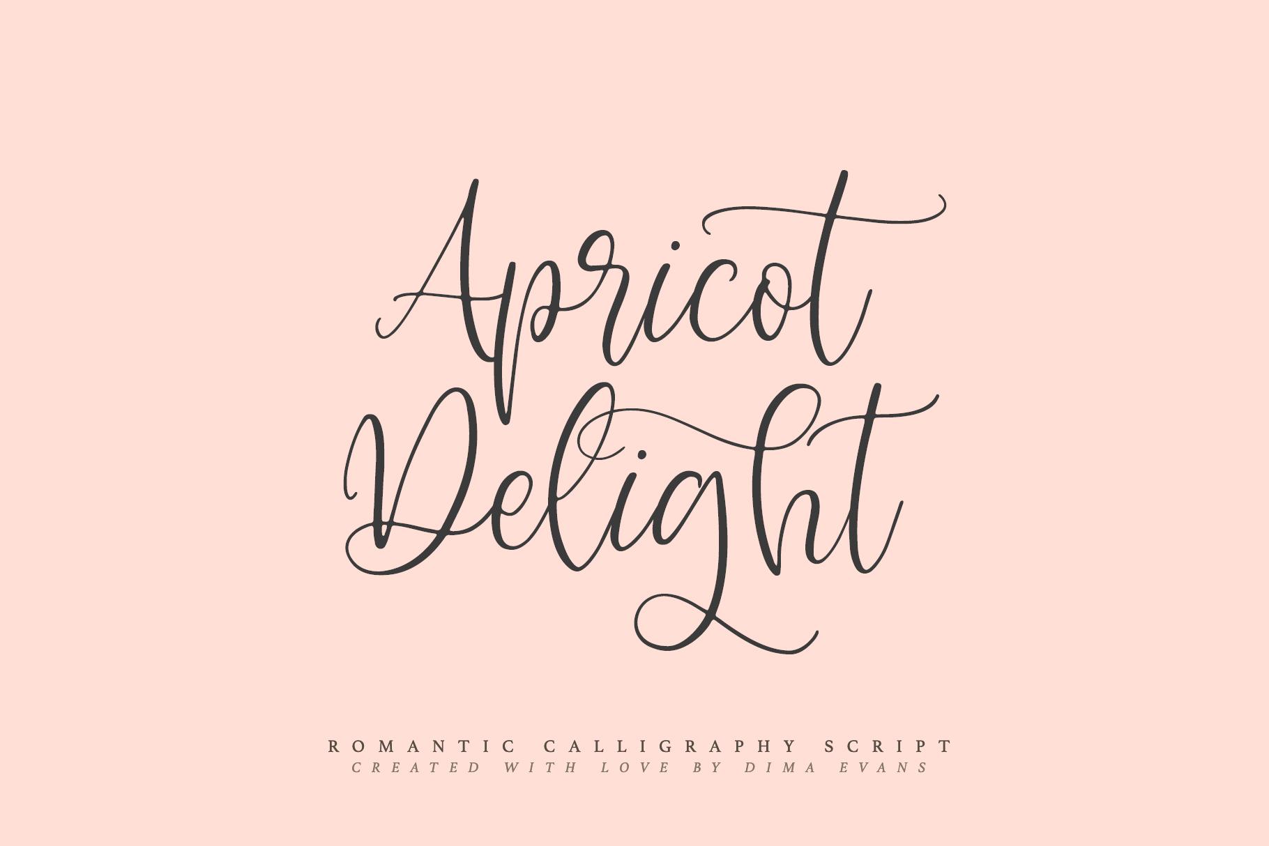 Apricot Delight | Romantic Script example image 9