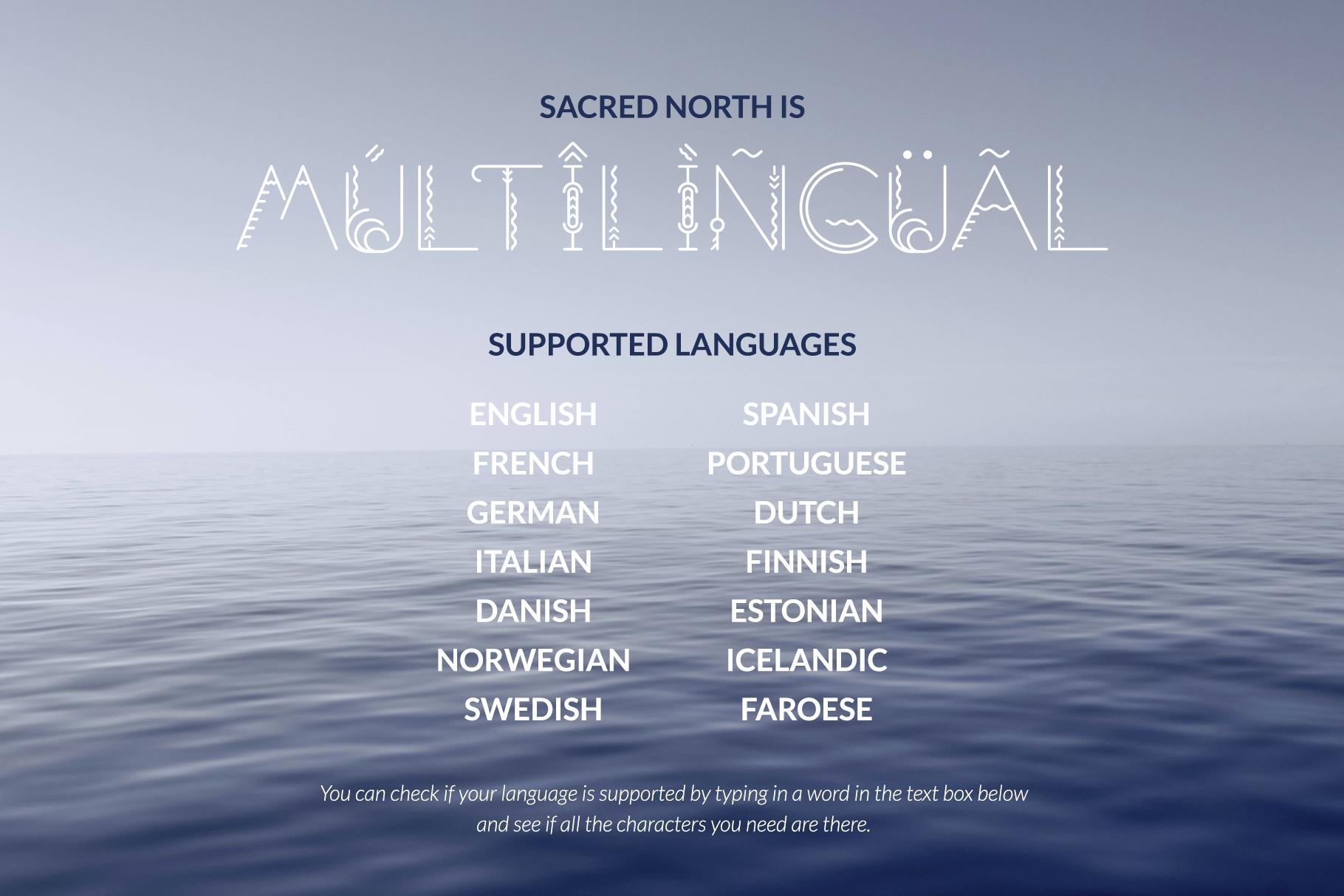 Sacred North Display Font example image 10