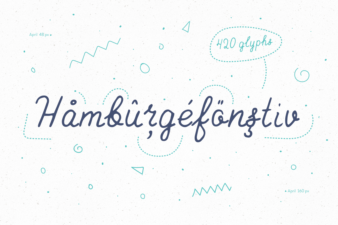 April—handwritten font example image 3