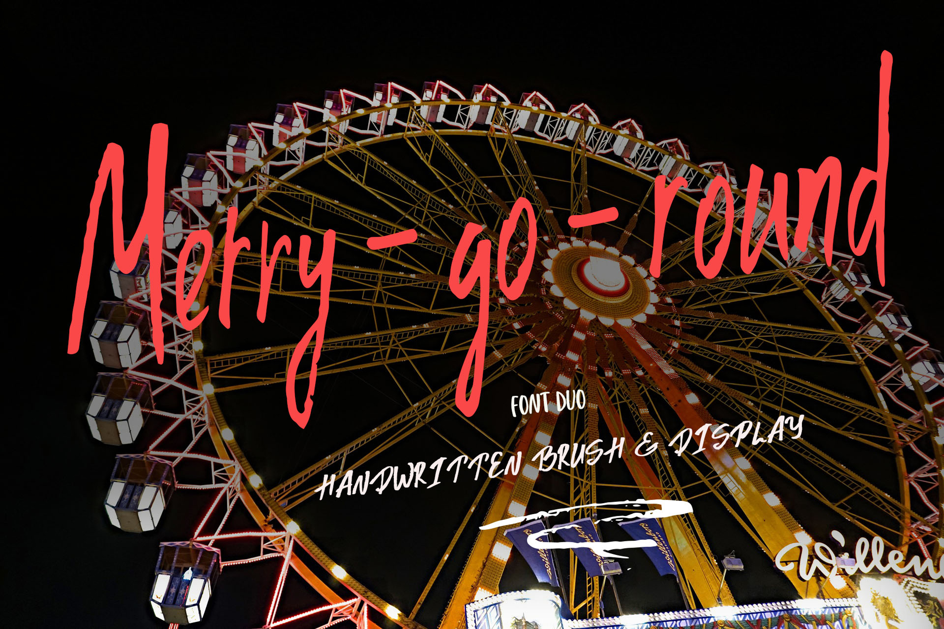 Merry go round Font Duo plus Extra swashes example image 1