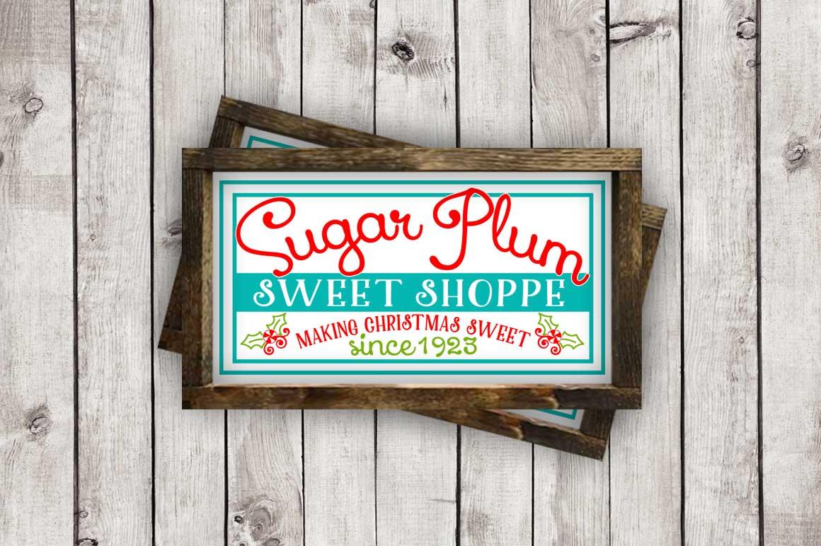 Sugar Plum Sweet Shoppe cut File - SVG DXF EPS AI PNG example image 2