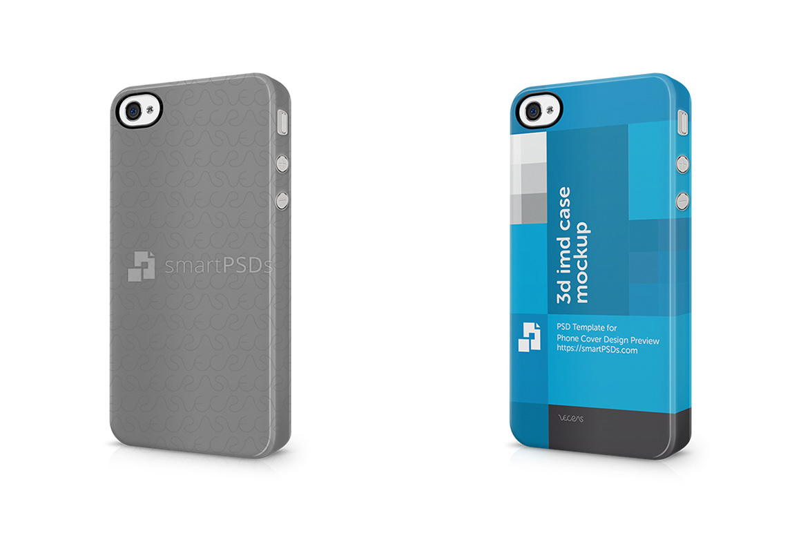 Apple iPhone 4 4s3d IMD Mobile Case Design Mockup-Left View 2011 example image 1