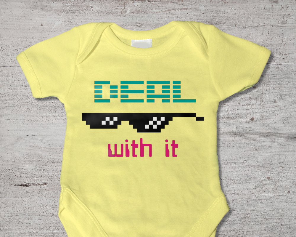 Deal With It Sunglasses SVG File Cutting Template example image 1