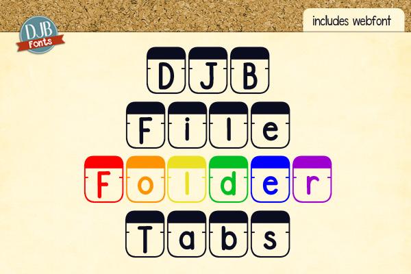 DJB File Folder Fonts example image 6