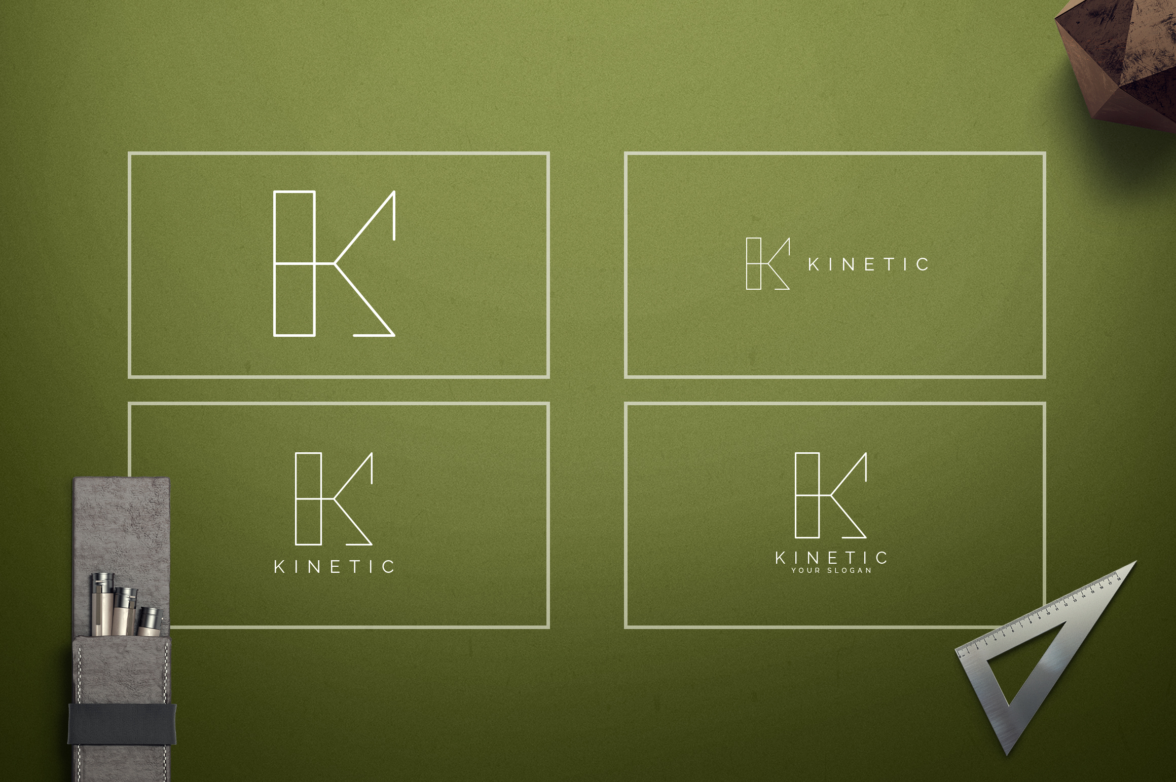 Geometric Letters and Logo Designs example image 12