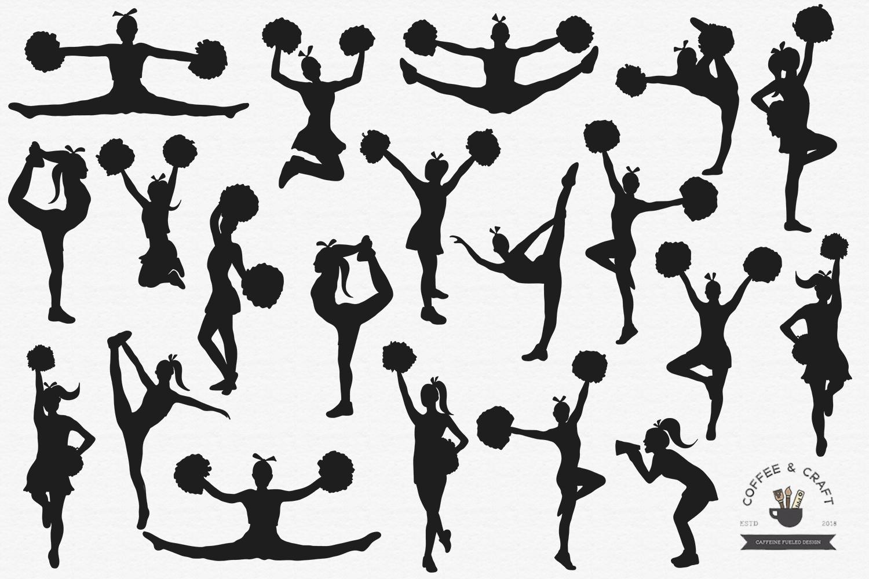 Cheerleader Vectors, SVG set example image 2