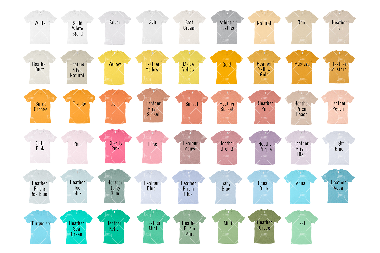 Bella Canvas 3001 Mockup Color Chart example image 3