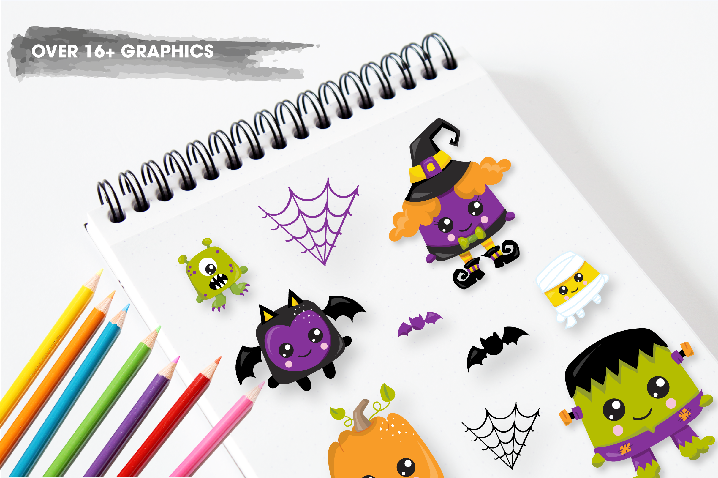 halloween creatures graphics and illustrations example image 4