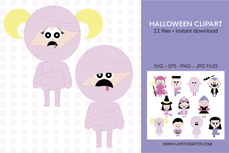 Cute Halloween clip art, halloween kids, halloween party png example image 7