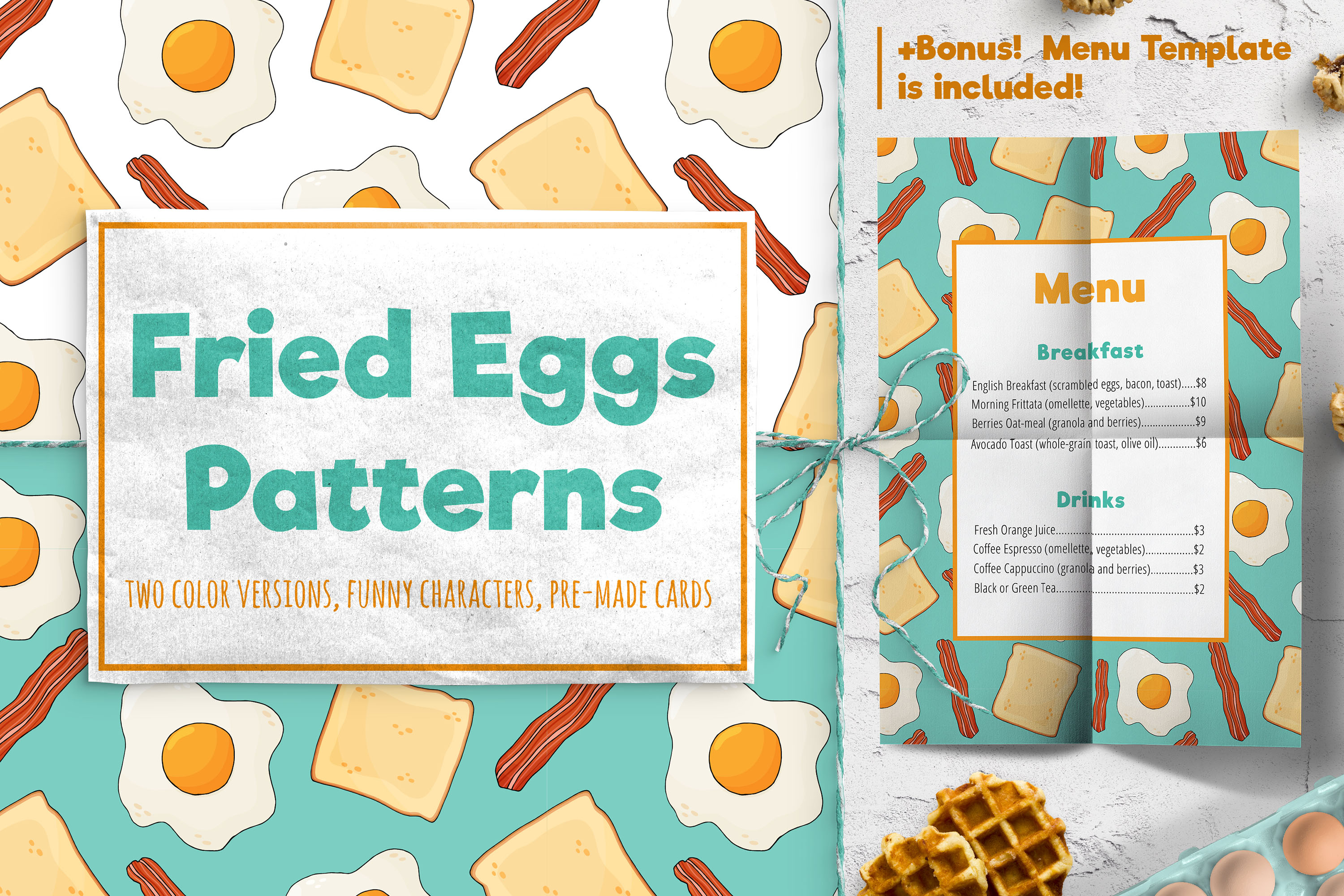Fried Eggs Patterns example image 1